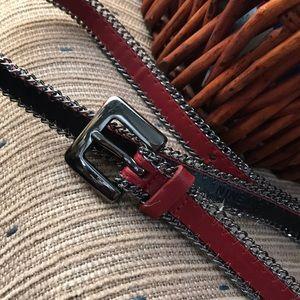 Nine West Women's Red Belt Size Medium